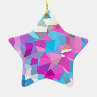 rosas fuertes polivinílicas, diseño gráfico, adorno navideño de cerámica en forma de estrella