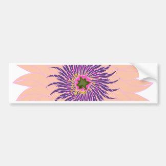 Rosas fuertes púrpuras lavendar del melocotón de pegatina para auto