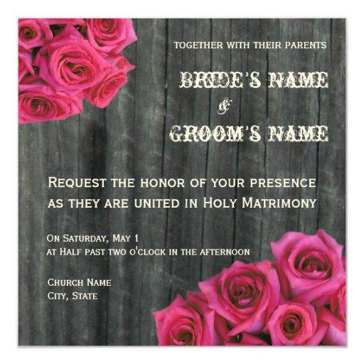Rosas fuertes subiós e invitación del boda de
