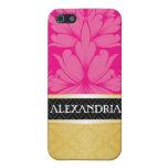 Rosas fuertes y caja personalizada oro del iPhone  iPhone 5 Coberturas
