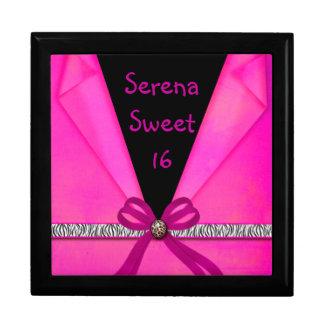 Rosas fuertes y dulce doblado negro 16 del estampa caja de regalo