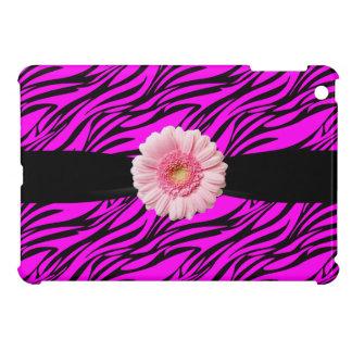 Rosas fuertes y iPad del estampado de zebra y del iPad Mini Protector