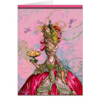 Rosas fuertes y pavo real de Marie Antonieta Tarjeta De Felicitación