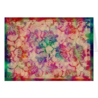 Rosas gitanos del cordón tarjeta de felicitación