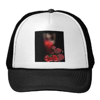 rosas gorros bordados