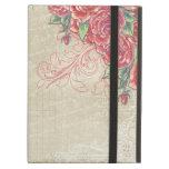 Rosas grabados vintage y remolinos