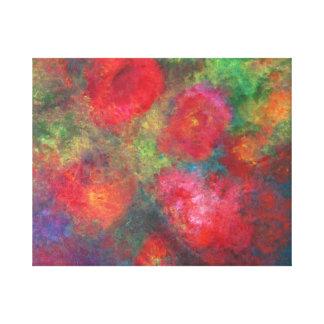 Rosas helados impresión en lona estirada