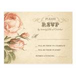 rosas hermosos del vintage que casan las postales