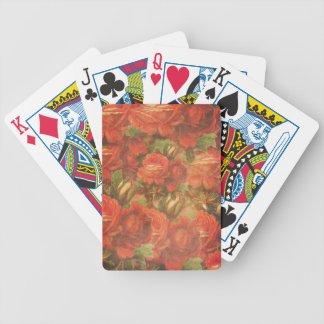 Rosas hermosos Gunge del vintage Baraja Cartas De Poker