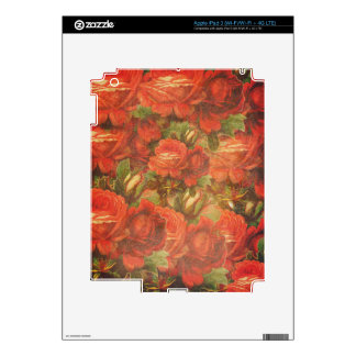 Rosas hermosos Gunge del vintage Pegatina Skin Para iPad 3