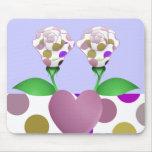 Rosas hermosos Mousepad del lunar Alfombrillas De Raton