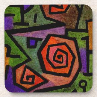 Rosas heroicos por el arte abstracto de Paul Klee Posavasos