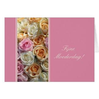 rosas holandeses del pastel de la tarjeta del día