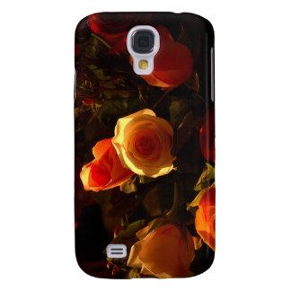 Rosas I - Naranja, rojo y gloria del oro