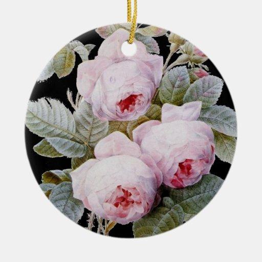 Rosas ingleses del Victorian del vintage en negro Ornatos