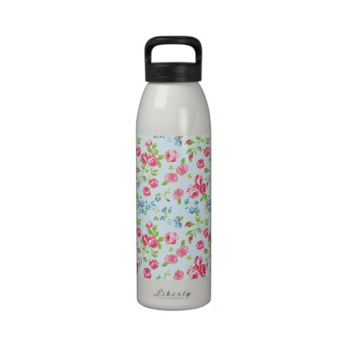 Rosas ingleses femeninos botellas de agua reutilizables