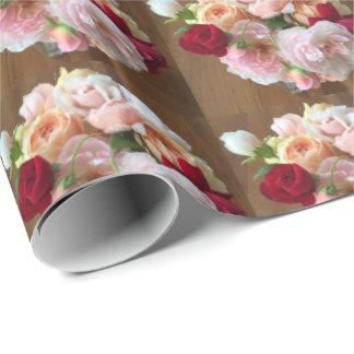 Rosas ingleses papel de regalo