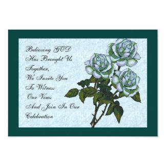 Rosas: Invitación cristiana elegante del boda