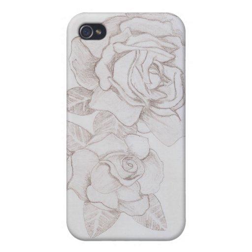 Rosas iPhone 4 Fundas