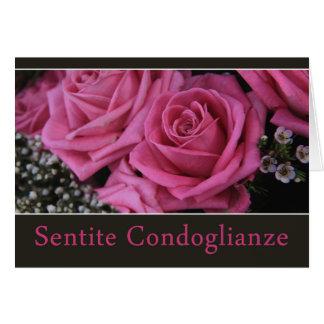 Rosas italianos de la condolencia - condoglianze tarjeta de felicitación