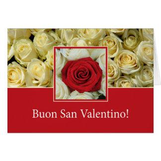 Rosas italianos del el día de San Valentín Tarjeta De Felicitación