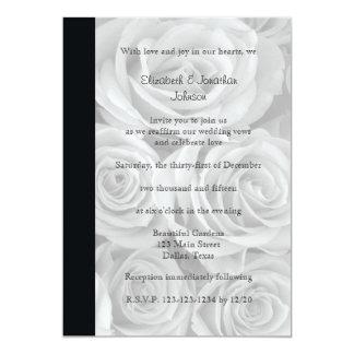 """Rosas magníficos de la renovación del voto de boda invitación 5"""" x 7"""""""