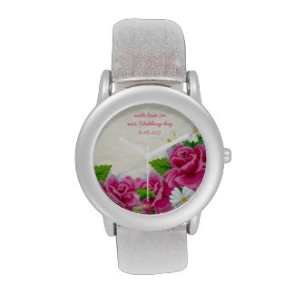 Rosas + Margaritas - reloj adaptable