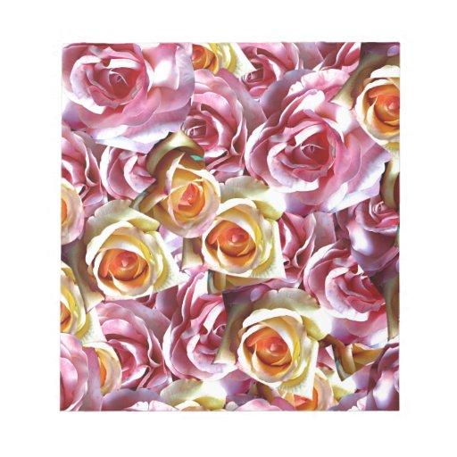 Rosas mezclados blocs de notas