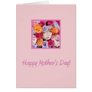 rosas mezclados del día de madre felicitaciones