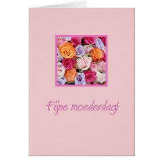 Rosas mezclados holandeses del día de madre tarjetas