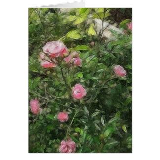 Rosas miniatura rosados 1 felicitación