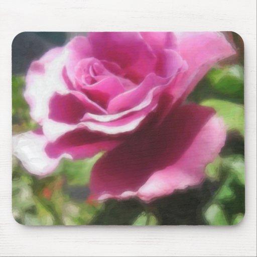 Rosas Moradas 4 Painterly Tapete De Ratón