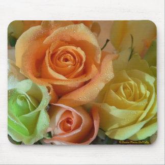 Rosas-Mousepad en colores pastel Tapete De Raton