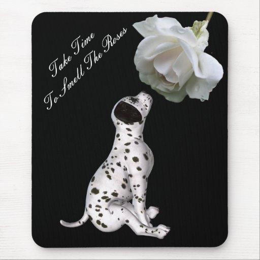 Rosas Mousepad inspirado subió perrito del olor