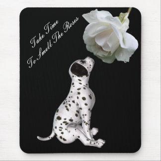 Rosas Mousepad inspirado subió perrito del olor Tapete De Ratones