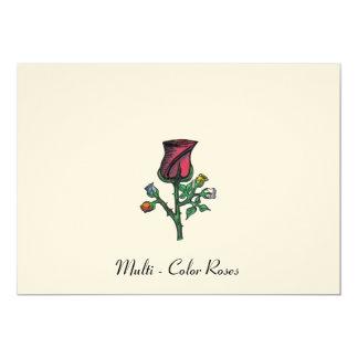 Rosas multicolores anuncio
