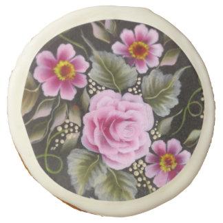 Rosas n cream-1 - galletas del diseñador - 12 PC