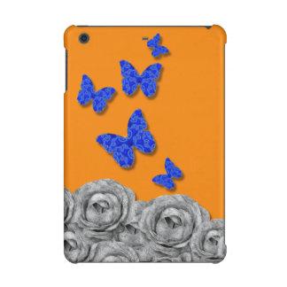 Rosas negros de las mariposas azules