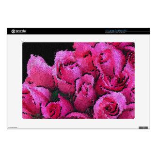 Rosas negros rosados abstractos calcomanías para 38,1cm portátiles