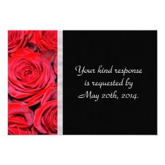 Rosas negros y rojos RSVP Anuncios