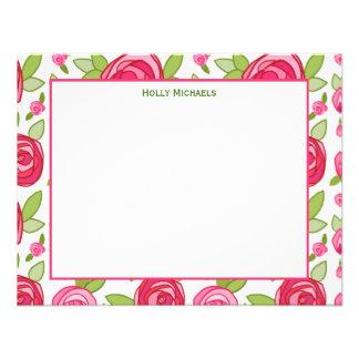 Rosas Notecards plano de las rosas fuertes Invitación