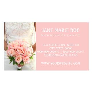 Rosas nupciales rosados tarjetas de visita