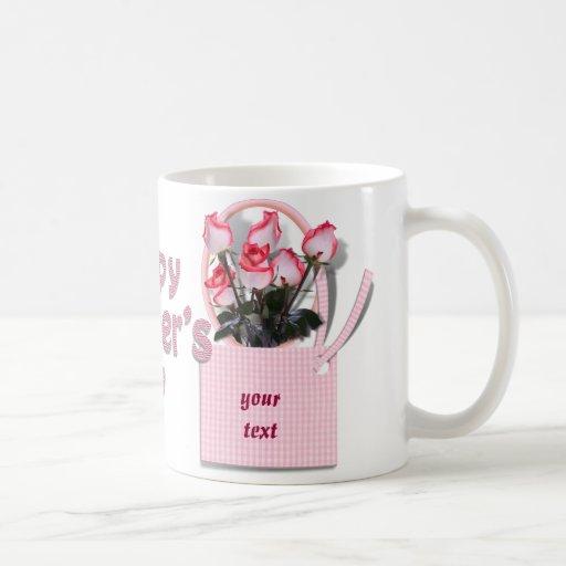 Rosas para alguien especial el el día de madre taza básica blanca