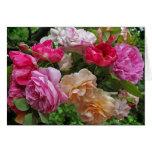 Rosas para el día de madre tarjeta de felicitación