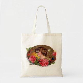 Rosas para la madre - vintage bolsa tela barata