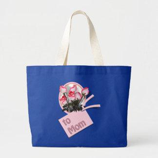 Rosas para la mamá el el día de madre bolsa de mano
