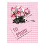 Rosas para la momia el el día de madre tarjetas postales