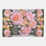 Rosas para mi toalla de cocina del ~ del amor