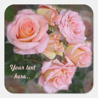 Rosas para mis pegatinas del cuadrado del del am