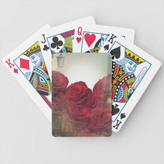 Rosas París del vintage Baraja Cartas De Poker
